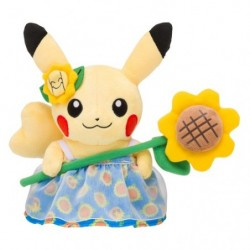 Plush Pokemon Summer Life Pikachu Flower japan plush