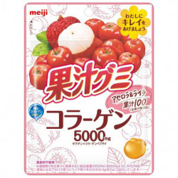 Gummies Acerola Lychee Collagen 5000 Kajugumi Meiji