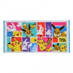 Mini Bath Towel Eevee & Pikachu japan plush