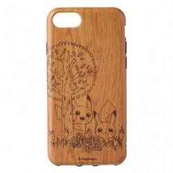 Smartphone Soft Jacket Pikachu Wood Grain A japan plush
