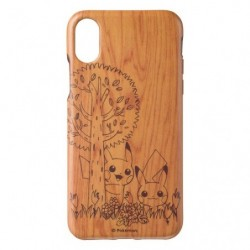 Smartphone Protection Souple Pikachu Wood Grain japan plush