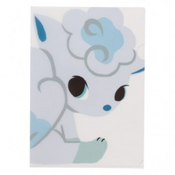 A4 Clear File Pokemon Time Alola Vulpix japan plush
