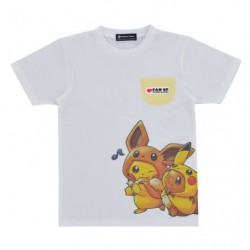 T-shirt FAN OF PIKACHU & EEVEE japan plush