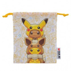 Pocket B FAN OF PIKACHU & EEVEE japan plush