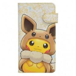 Flip Protection Smartphone FAN OF PIKACHU & EVOLI japan plush