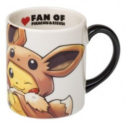 Mug Cup FAN OF PIKACHU & EEVEE japan plush