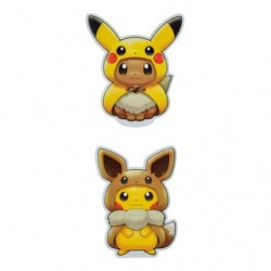 Stickers FAN OF PIKACHU & EEVEE japan plush