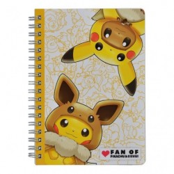 B6 Ring Note FAN OF PIKACHU & EEVEE japan plush