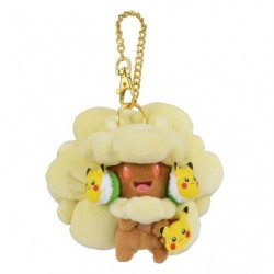 Plush Keychain Whimsicott FAN OF PIKACHU & EEVEE japan plush