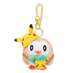 Plush Keychain Rowlet FAN OF PIKACHU & EEVEE japan plush