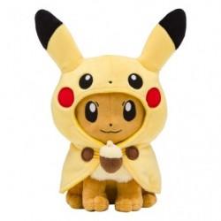 Plush Eevee Poncho Pikachu
