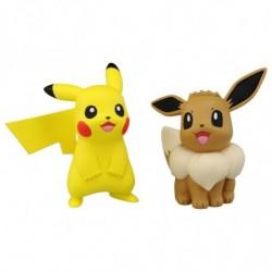Moncolle Figurine EX ESP-10 Pikachu & Evoli japan plush