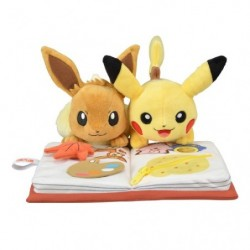 Plush Pikachu & Eevee Autumn japan plush