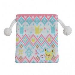 Pocket Wool Pikachu and Snowman japan plush