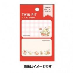 Memo Twin Pit Pikachu Red japan plush