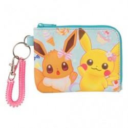 Wallet Pikachu Eevee Flower japan plush