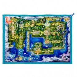 Map Towel Let's Go Pikachu Eevee japan plush