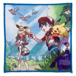Micro Fiber Towel Let's Go Pikachu Eevee