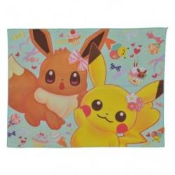 Serviette Pikachu Evoli Fleur japan plush