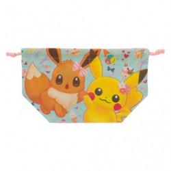 Lunch Bag Pikachu Eevee Flower japan plush