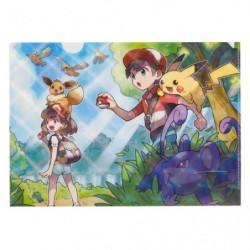 A4 Clear File Pokemon Let's Go Eevee Pikachu japan plush