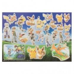 Seal Pokemon Let's Go Evoli Pikachu japan plush