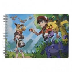 A5 Cahier Note Pokemon Let's Go Evoli Pikachu japan plush