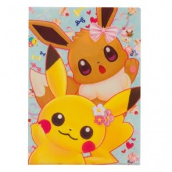 A4 Pochette Transparente Pikachu Evoli Fleur japan plush