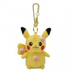 Porte Cle Peluche Pikachu Sakura Fleuraison japan plush