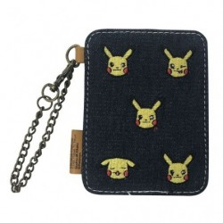 Denim IC card case Pikachu japan plush