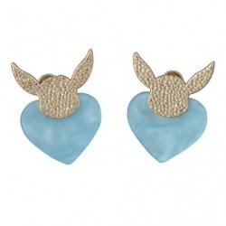 Évoli Coeur Boucle d'oreilles Bleue japan plush