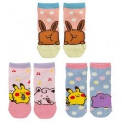 Short Socks Pokémon Yurutto Set 5 (x) japan plush