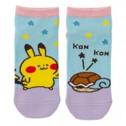 Chaussettes courtes Carapuce Pikachu Pokémon Yurutto