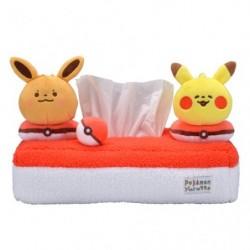 Tissue Box Pikachu and Eevee Pokémon Yurutto japan plush