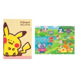 A4 Clearfile Set x2 Pokémon Yurutto japan plush