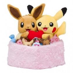 Peluche Pikachu Evoli St Valentin