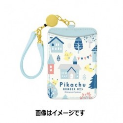 Single Pass Case Pikachu number 025 japan plush