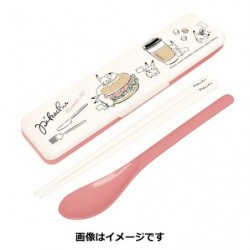 Set Spoon Chopstick Pikachu number 025 Together japan plush