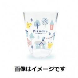 Tumbler Transparent Pikachu number 025 Forest Town japan plush