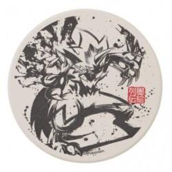 Coaster Zeraora Calligraphy Sumie Retsuden japan plush