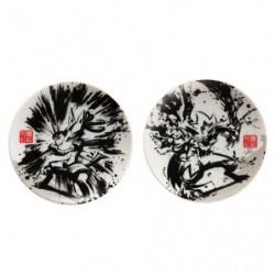 Small Dish Set x2 Lucario and Zeraora Calligraphy Sumie Retsuden japan plush