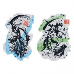 Sticker Set x2 Amphinobi & Mega Jungko Calligraphie Sumie Retsuden japan plush