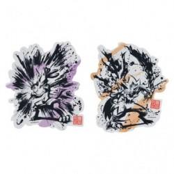 Sticker Set x2 Lucario and Zeraora Calligraphie Sumie Retsuden japan plush