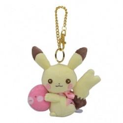 Porte-clés Pikachu Femelle fluffy little pokémon japan plush
