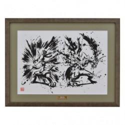 Art Pokemon Calligraphy Sumie Retsuden C japan plush