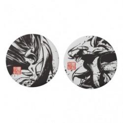 Badge Set x2 Mega Gallame and Carchacrok Calligraphie Sumie Retsuden japan plush