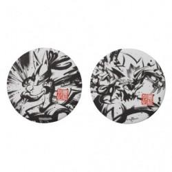 Badge Set x2 Lucario and Zeraora Calligraphie Sumie Retsuden japan plush