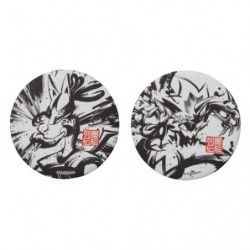 Badge Set x2 Lucario and Zeraora Calligraphy Sumie Retsuden japan plush