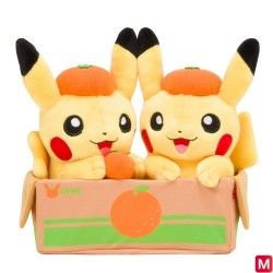 Pair Plush Pikachu Orange japan plush