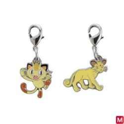 Metal keychain Meowth Persian 052・053 japan plush